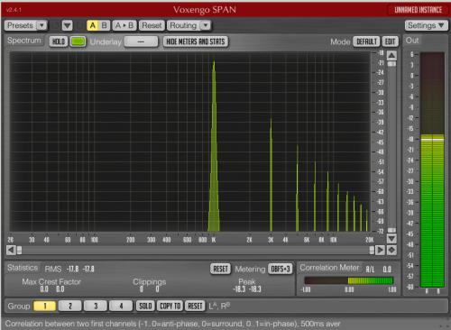 Abb. 1: 1000Hz Sinuston mit ungeraden Harmonischen